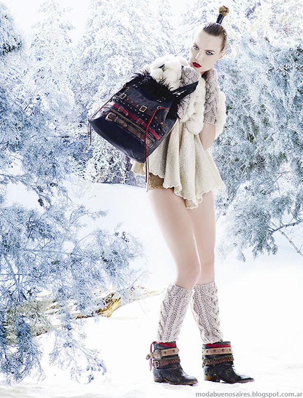Carteras y zapatos otoño invierno 2014 Carla Danelli. Moda otoño invierno 2014.
