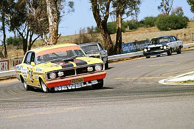 Ford Falcon GTHO Muscle Car at Race
