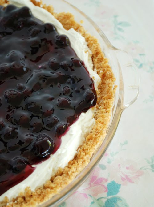 Once Upon My Life: No-Bake Blueberry Cheesecake