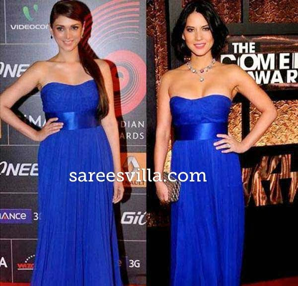 Aditi Rao and Lisa Olivia Munn in same gown.