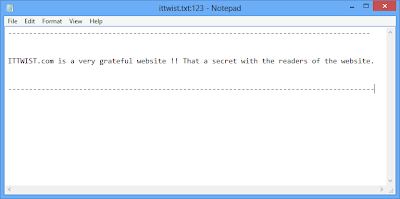Hide Confidential Data On Notepad 4- ITTWIST