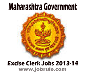 Fresh Clerical (Typist) Jobs Opening in Maharashtra Excise Department November 2013