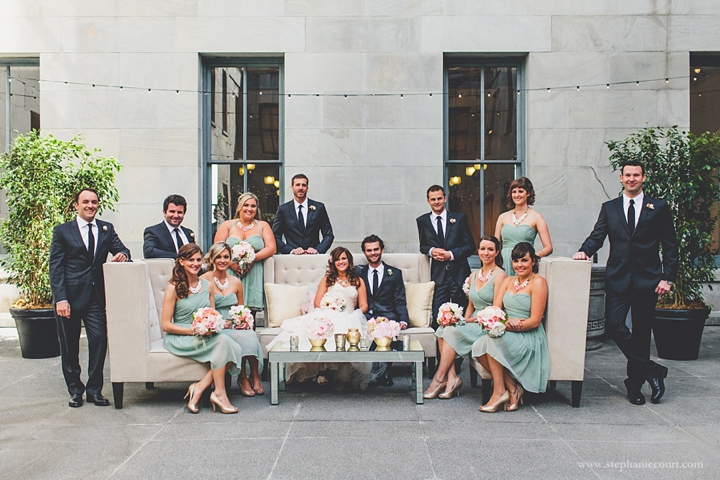 """""""wedding party at old mint in san francisco urban chic wedding"""""""