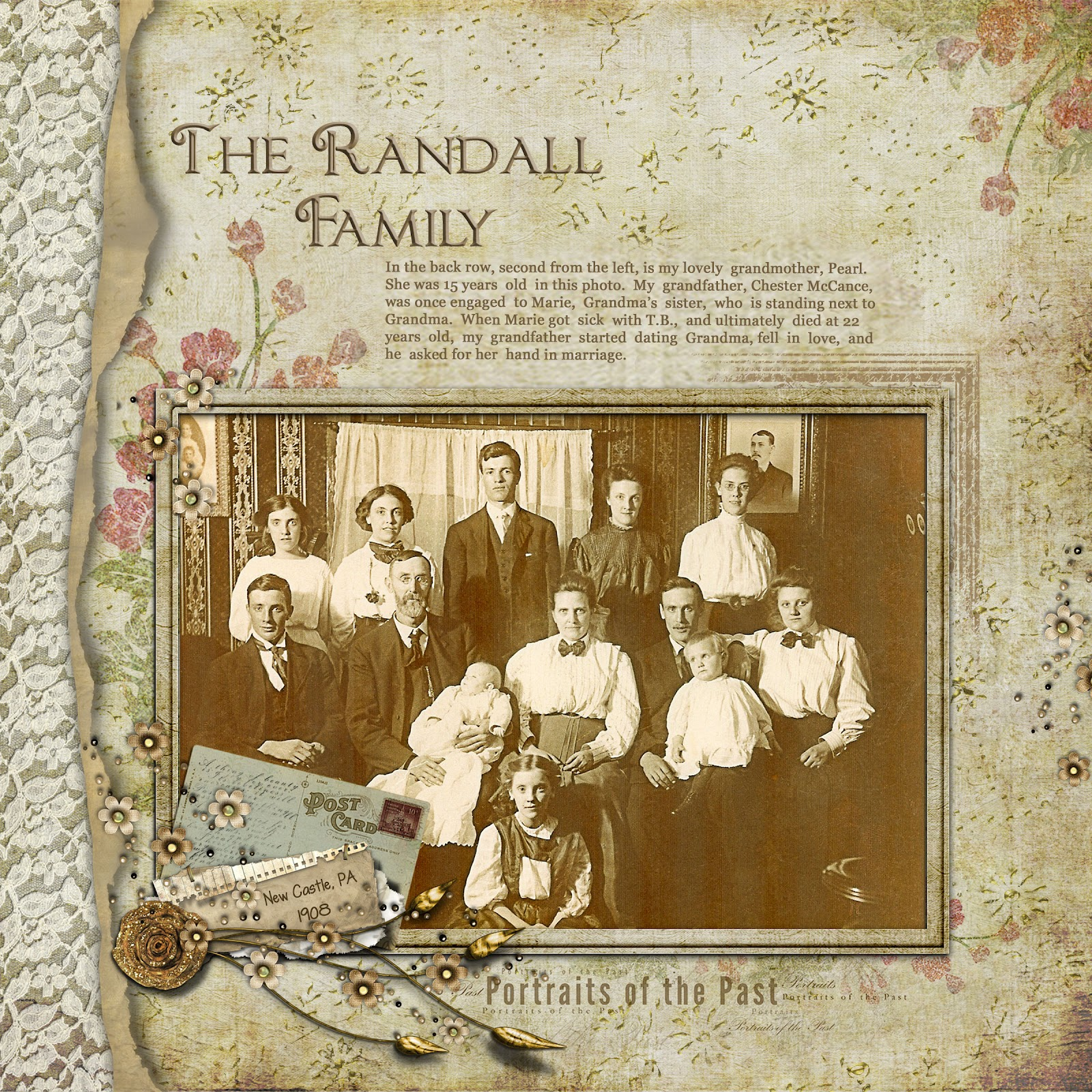 How to scrapbook family tree - The Randall Family