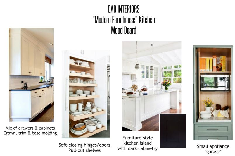 mood board CAD INTERIORS kitchen renovation