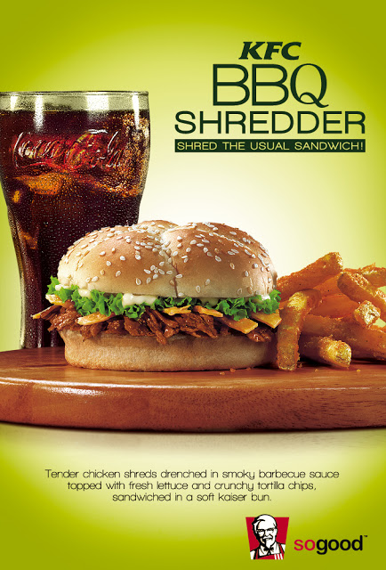 New KFC BBQ Shredder Sandwich 2013