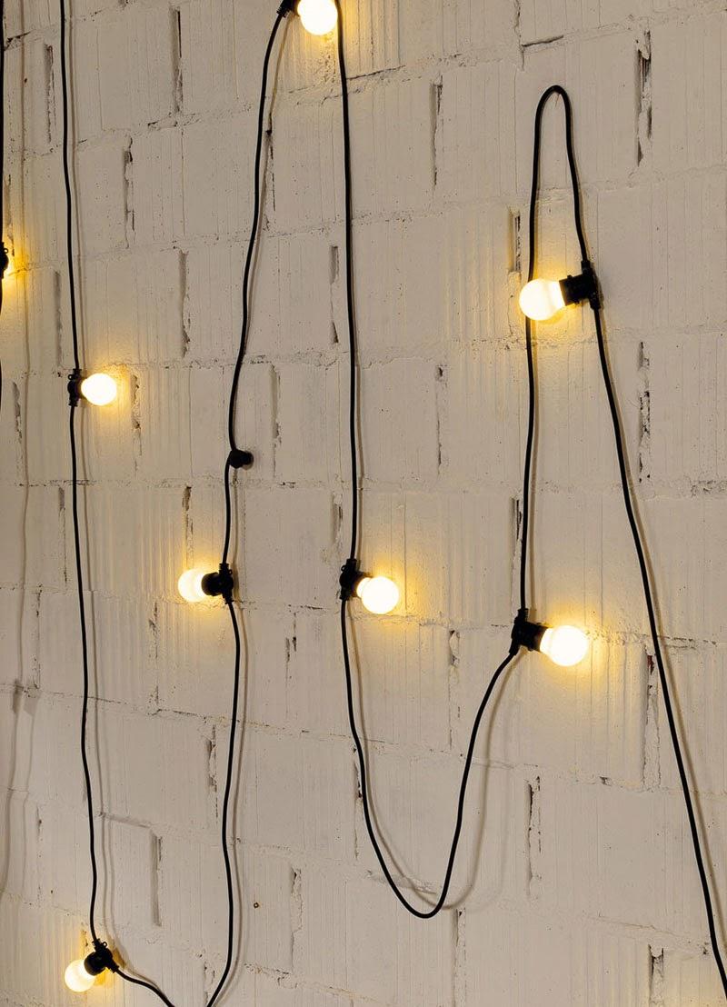 bombillas de verbena impermeables y LED