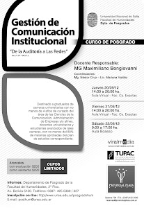 Salta: Curso de Postgrado en Comunicación Institucional. UNSa