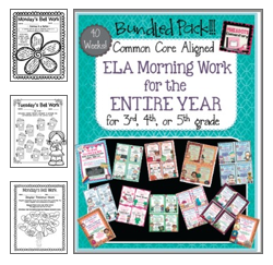 http://www.teacherspayteachers.com/Product/ELA-Morning-WorkBell-Work-BUNDLE-PACK-40-WEEKS-ENTIRE-YEAR-Monthly-Themed-1317892