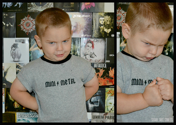 A brutal Mini Metal t-shirt for toddlers!