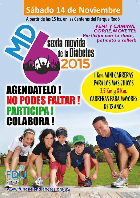 8k y 3,5k Movida de la diabetes (Canteras parque Rodó, 14/nov/2015)