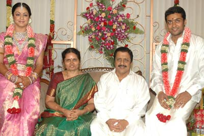 Surya with his Parents in Marriage