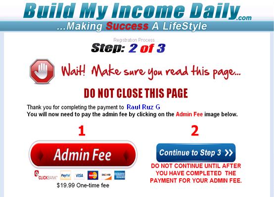 Pago a Click Bank 19.90 Buildmyincomedaily