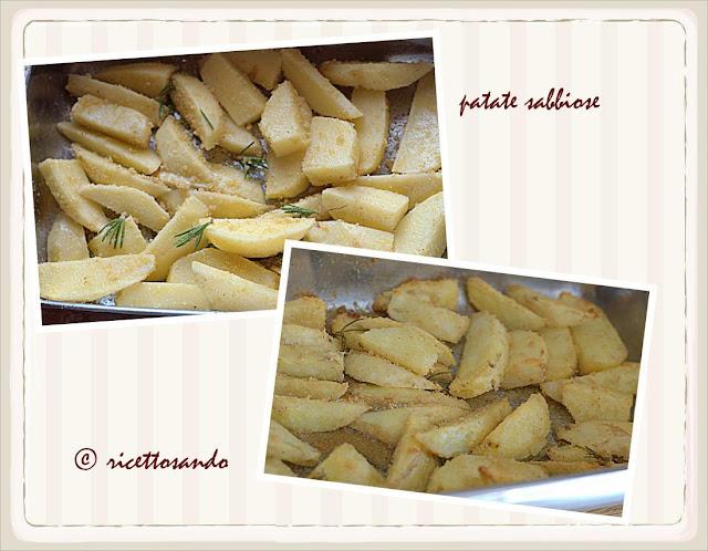 gli steps della Patate al forno e sabbiose