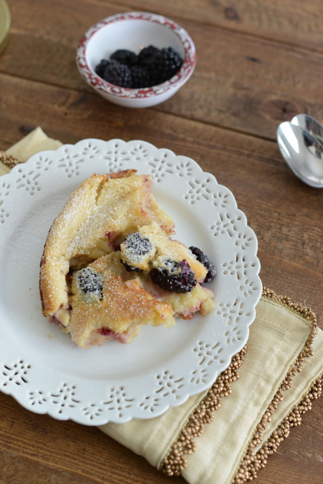 julia child blackberry clafoutis, M Loves M {click through for recipe}