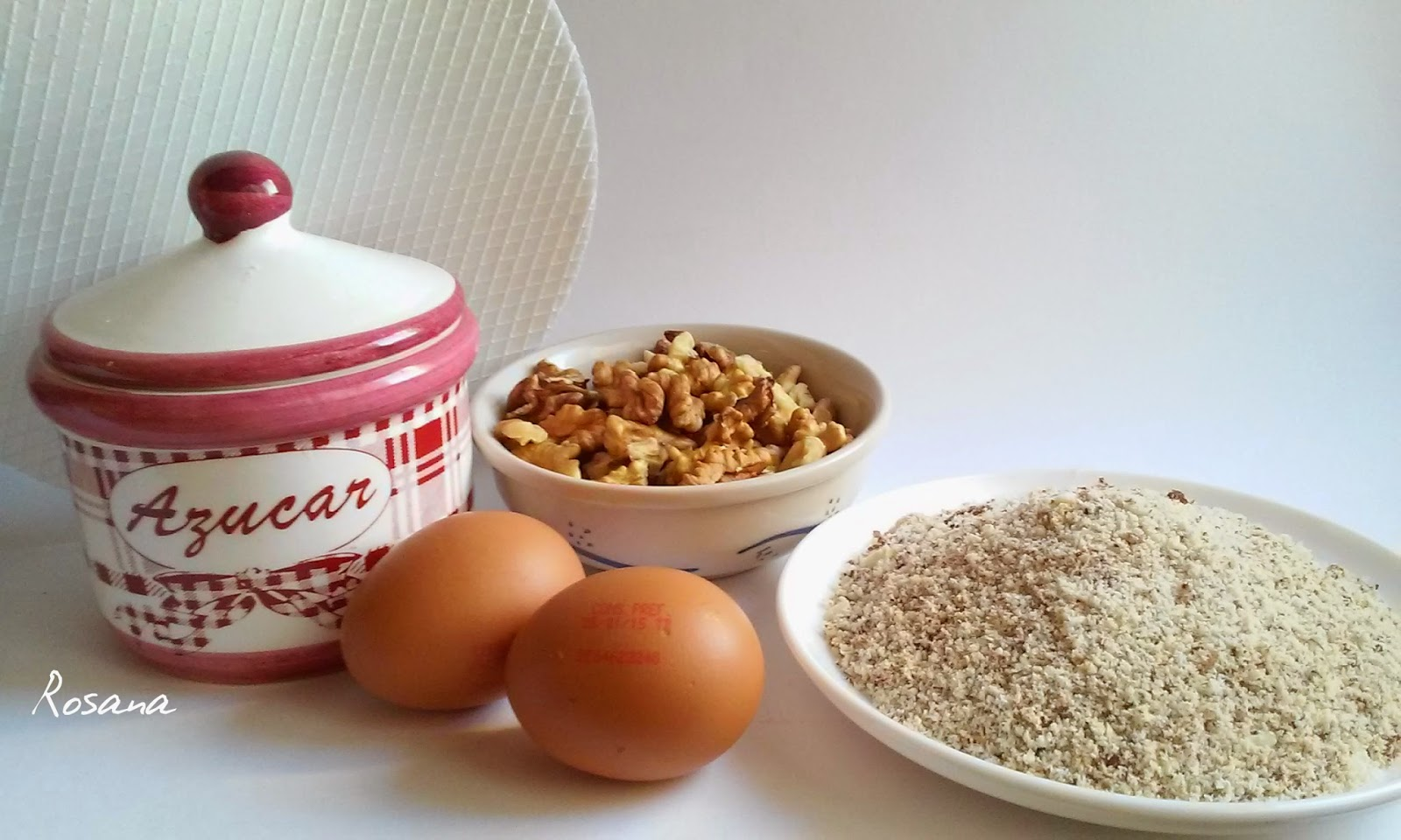 Ingredientes torta de nuez