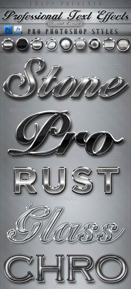Professional Text Effects V2 Photoshop styles