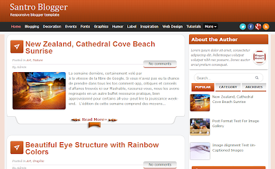Santro WordPress converted blogger template