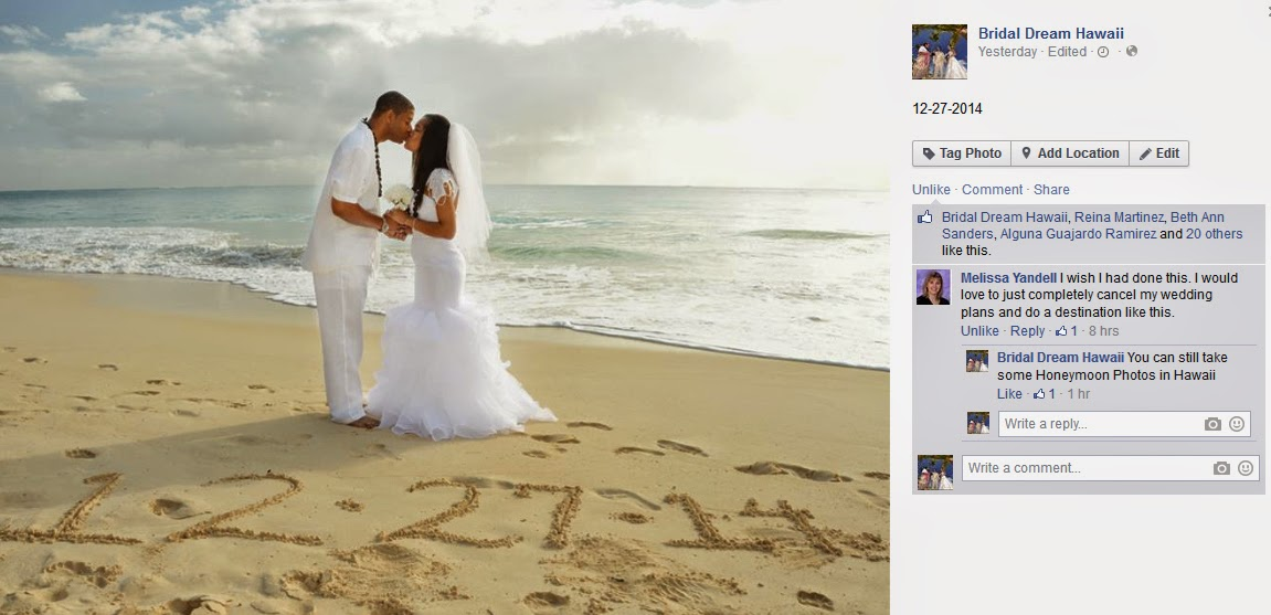 I wish I had done this. I would love to just completely cancel my wedding plans and do a destination like this.