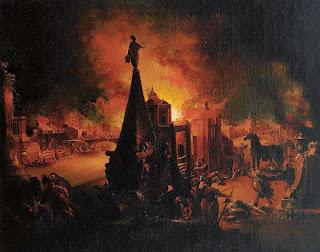 Blick auf das brennende Troja, ca. 1759-1762
