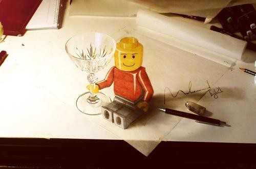 04-Lego-Man-Muhammad-Ejleh-2D-Like-3D-Drawings