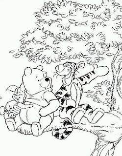 Dibujos de Winnie Pooh para Pintar, parte 1