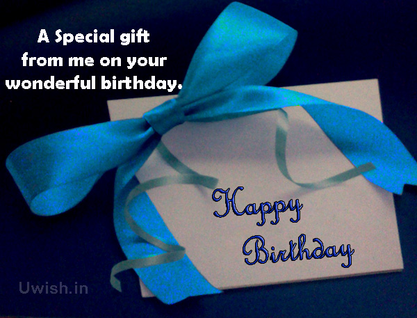 Happy birthday with special gifts e greeting cards and wishes.