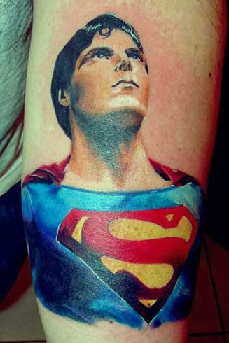 brainsy heart amazing superman tattoo. Black Bedroom Furniture Sets. Home Design Ideas