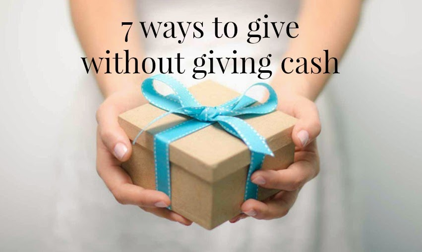 give without giving cash, charity, charity projects