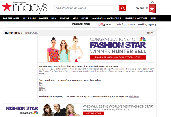 NBC's Fashion Star Winner Leaked by Macy's