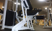 Quadriceps leg extension machine at Arlington, VA, gym