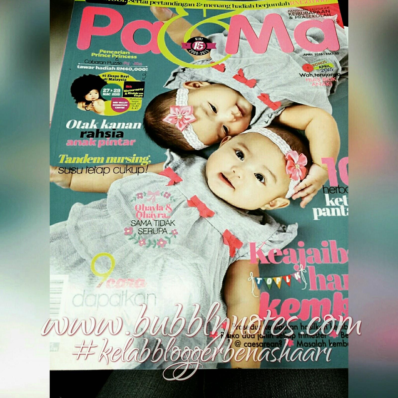 Featured On: Majalah Pa & Ma April 2015