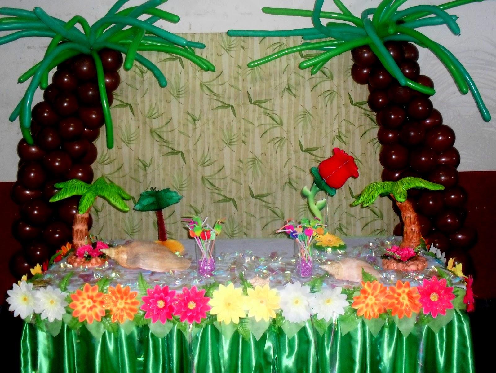 Decoraç u00e3o Havai -> Decoração De Festa Havaiana Simples
