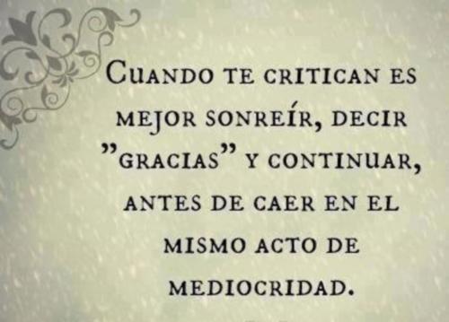 Frases de critica,