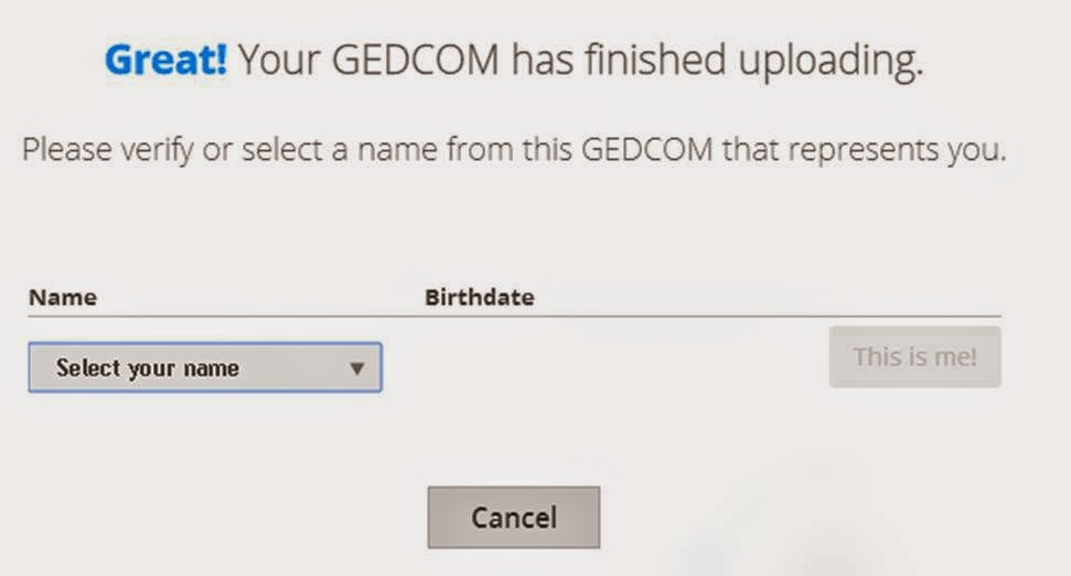 ftDNA Upload Gedcom - 3