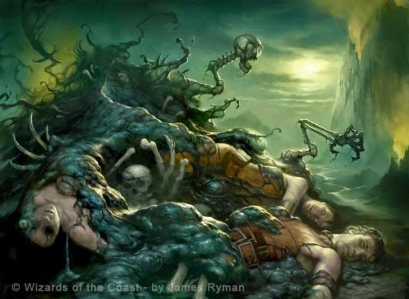 James Ryman deviantart ilustrações sombrias fantasia terror card games legend cryptids magic gathering world warcraf