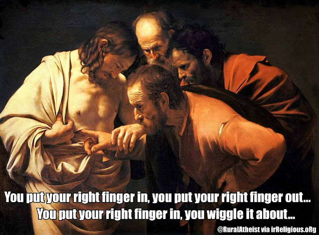Funny Jesus Doubting Thomas Meme Painting Picture