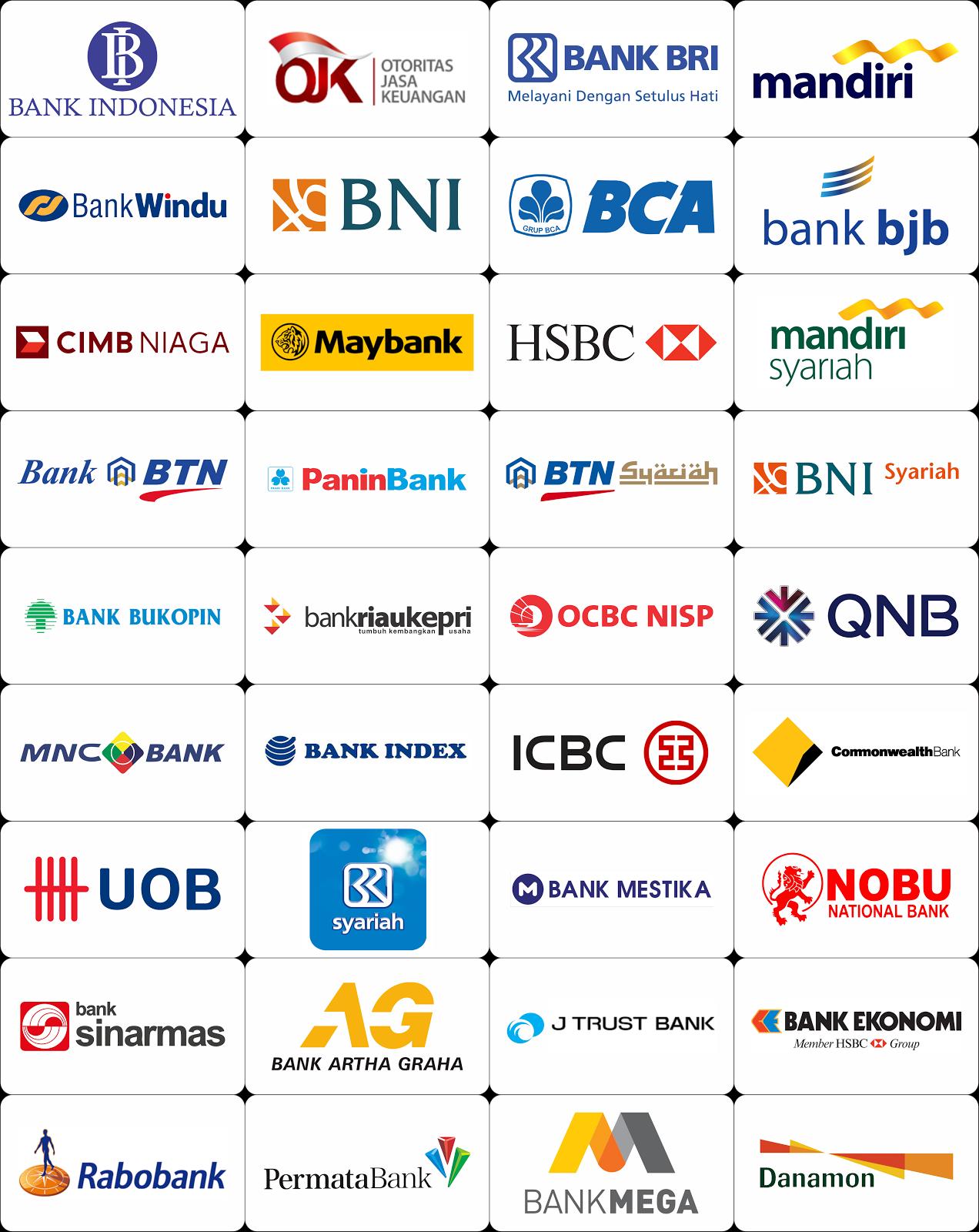 kumpulan logologo bank di indonesia coreldraw vector