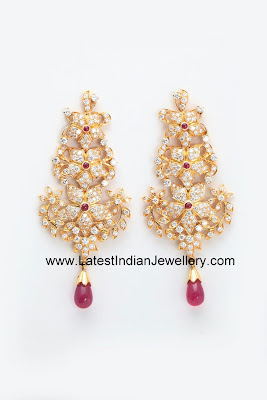 Floral Diamond Party Earrings