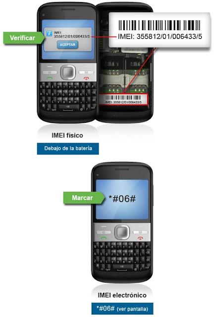 Como puedo saber el IMEI de mi celular para registrarlo Necesito el