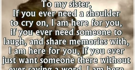 sisters love quotes with inspirational picture
