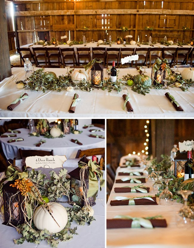 Rustic Fall Wedding Centerpiece Ideas : Life of a vintage lover autumn barn wedding