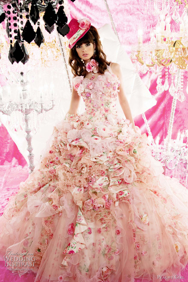 Beautiful Girl Pink Wedding Dresses Collection
