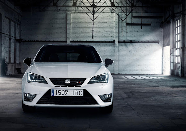 The New Seat Ibiza Cupra front