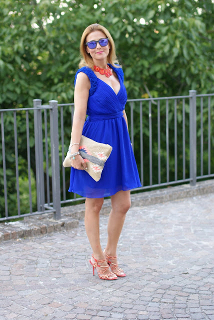 summer dress, cobalt blue romantic dress, Little Mistress dress, royal blue dress, Fashion and Cookies