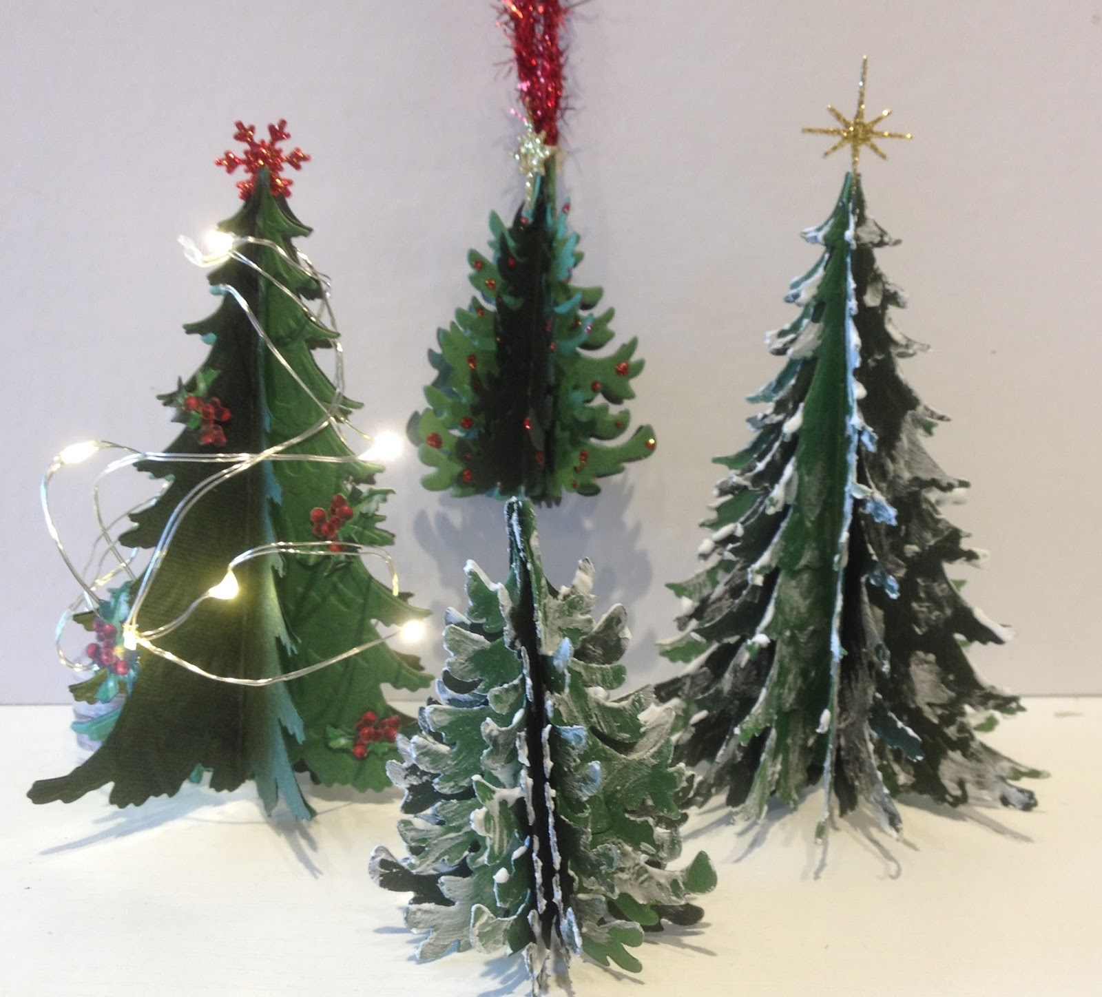 Annes Papercreations 3D Christmas Paper Tree Tutorial - Make 3d Christmas Tree