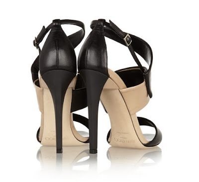 Jimmy Choo black and white trapeze stiletto sandals
