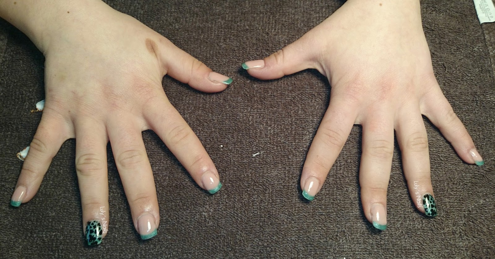 Luly 39 s nails manicura verde de la buena suerte - Como quitarme la mala suerte ...