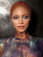 Hottest women: Beyoncé glitter-cover body