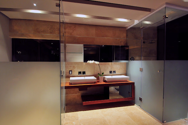 Picture of two modern sinks in the bathroom